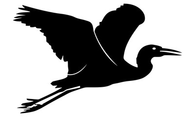 vector image of the flying crane