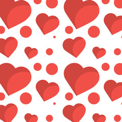 romantic heart love pattern image vector illustration