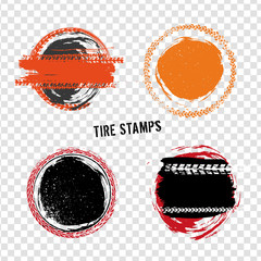 Grunge Off Road Tire Stamps