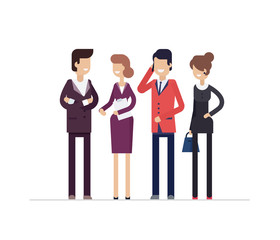 Colleagues at work - modern flat design style isolated illustration