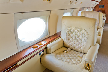 Interior of a corporate jet