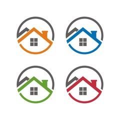 Real estate logo design template vector illustratio
