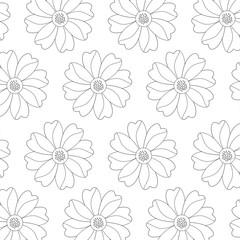 seamless pattern flower natural decoration vector illustration sticker design