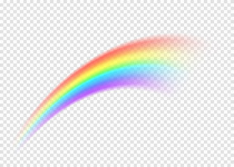 Rainbow smear isolated on transparent background