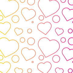 romantic heart love pattern image vector illustration line color