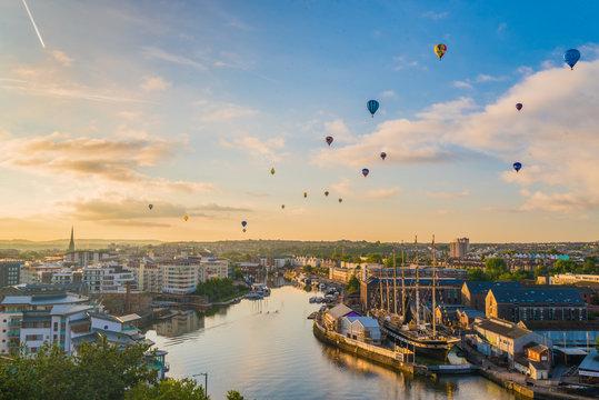 Bristol international balloon fiesta from harbourside