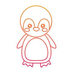 cute animal standing cartoon wildlife vector illustration color line design