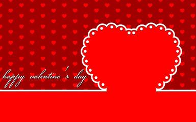 Valentine's Day greeting card. Web banner. Vector illustration.