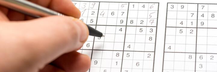 Sudoku ausfüllen - Banner