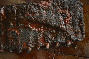 Pork ribs with dry rub and Sauce 2