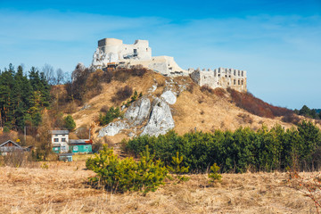 Ruins of Rabsztyn castle near Krakow, Poland