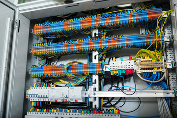 wires in electrical panel