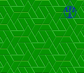 Vector seamless modern background pattern. Emerald hexagon tiles with boards. Contain repeating geometric triangular grid.