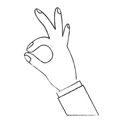 human hand showing ok fingers symbol vector illustration  design