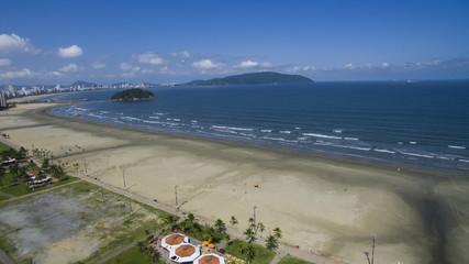 São Vicente Beach Brazil Beautiful beach in South America, Brazil, paragliding in mountain