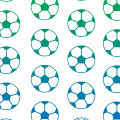 ball football soccer pattern image vector illustration design  blue to green ombre