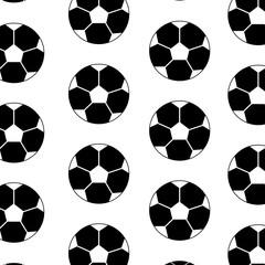 ball football soccer pattern image vector illustration design  black and white
