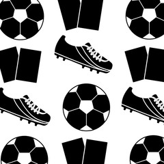 ball cleat cards football soccer pattern image vector illustration design  black and white