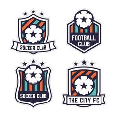 Soccer or Football Club Logo or Badge Set.