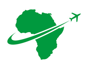 green airport africa map continent image icon