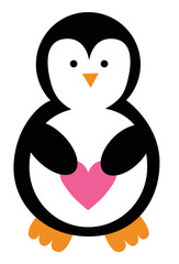 Valentines Day Heart Penguin