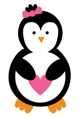 Love Heart Penguin