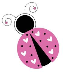 Pink Valentines Ladybug