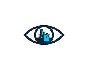 Eye Factory Icon Logo Design Element