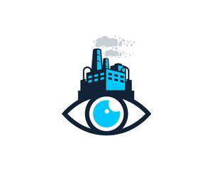 Factory Eye Icon Logo Design Element