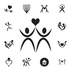 couple in love icon. Set of Valentine's Day elements icon. Photo camera quality graphic design collection icons for websites, web design, mobile app