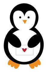 Valentines Letter Penguin