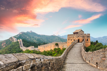Deurstickers Chinese Muur Great Wall of China at the jinshanling section,sunset landscape