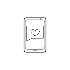 message from a loved one icon. Love and Valentine's Day element icon. Premium quality graphic design. Signs, outline symbols collection icon for websites, web design, mobile app