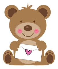 Valentines Day Letter Bear