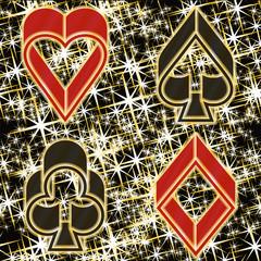 Poker casino invitation card, vector illustration
