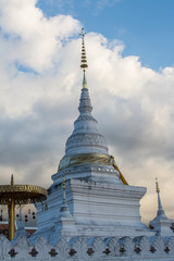 Wat Phra That Khao Noi at twilight, Nan Province, Thailand