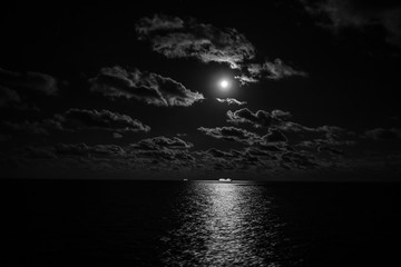 Cruise, Moon, and Clouds