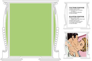 Frame for scrapbook, banner, sticker, social network