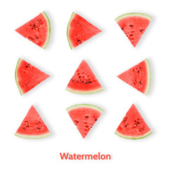 watermelon pattern, on the white background, abstract
