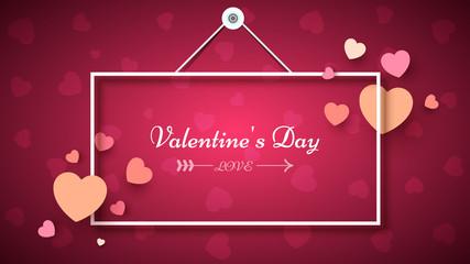 Heart Frame. Valentine s day. Vector eps 10