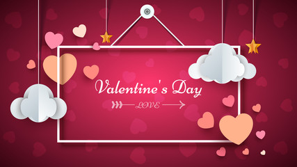 Heart Frame. Valentine s day. Vector eps 10