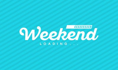 Simple Weekend Loading Letter Wallpaper Vector