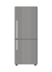 Refrigerator isolated on white background. Flat design. Vector illustration.