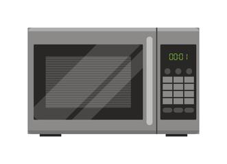 Microwave. Flat design. Vector illustration.