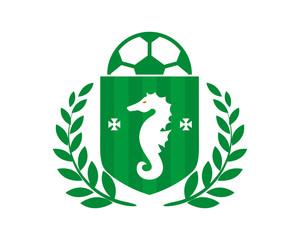 seahorses heraldic soccer green football