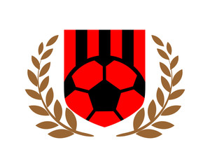 soccer sport emblem heraldic shield