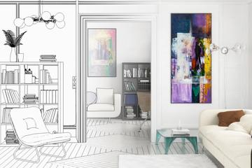 Projekt einer Apartment-Einrichtung (Zeichnung)