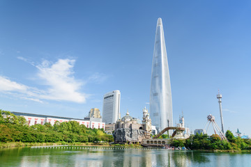 Aluminium Prints Seoul Amazing Seoul skyline, South Korea. Beautiful view of downtown