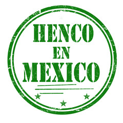Henco en Mexico (made in Mexico) grunge rubber stamp