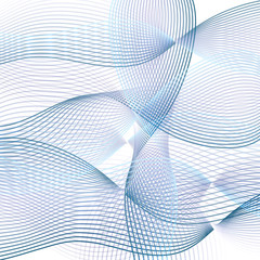 Abstract wave background. Technology modern template in blue tones. Vector EPS10 illustration